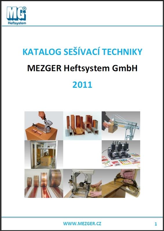 Katalog výrobce sponkovaček MEZGER GmbH