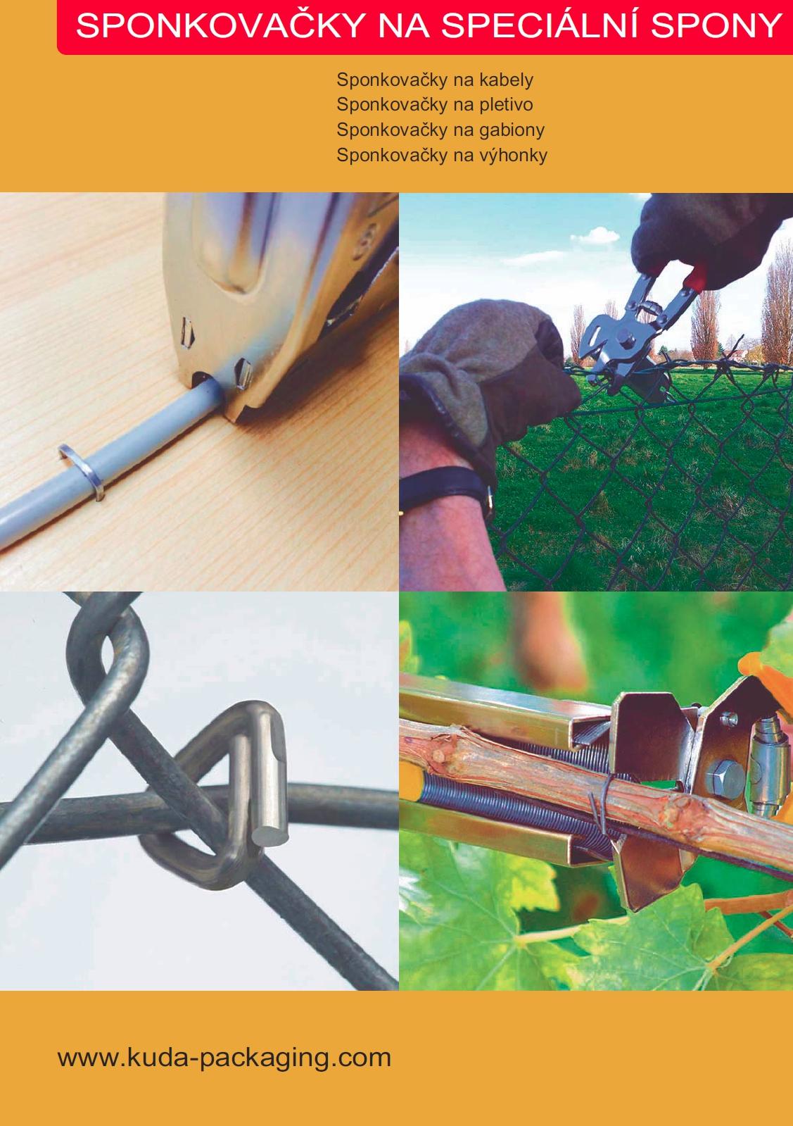 Sponkovačky na C kroužky, kleště na gabiony, sponkovačky na kabely